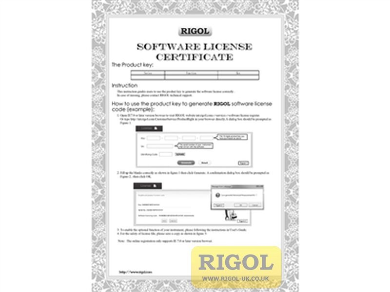 Rigol DG800-DCH Single to Dual-Channel Upgrade Licence