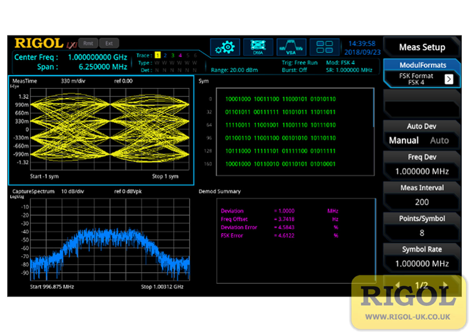 Rigol RSA5000-VSA Signal Demodulation Option