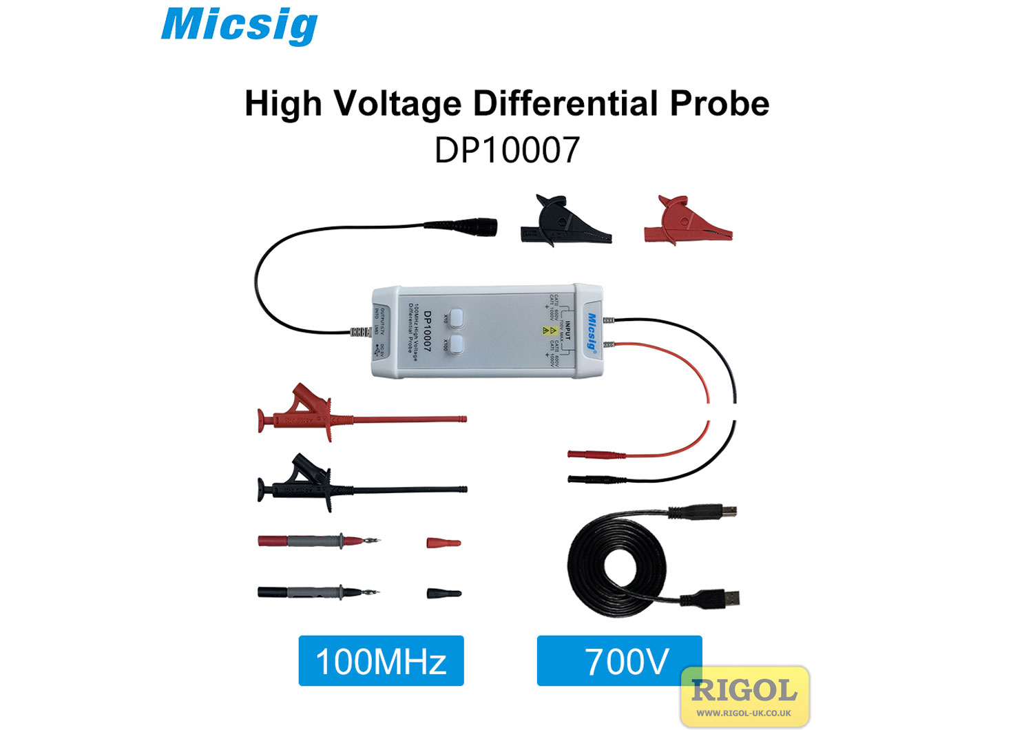 Micsig DP10007 �70V 10X �700 100X Differential Probe