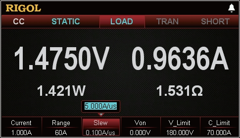 High resolution and accuracy on voltage and current load conditions