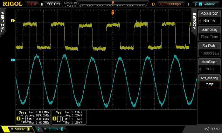 Low Noise floor with wide vertical range